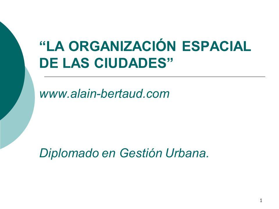 LA ORGANIZACIÓN ESPACIAL DE LAS CIUDADES www. alain-bertaud