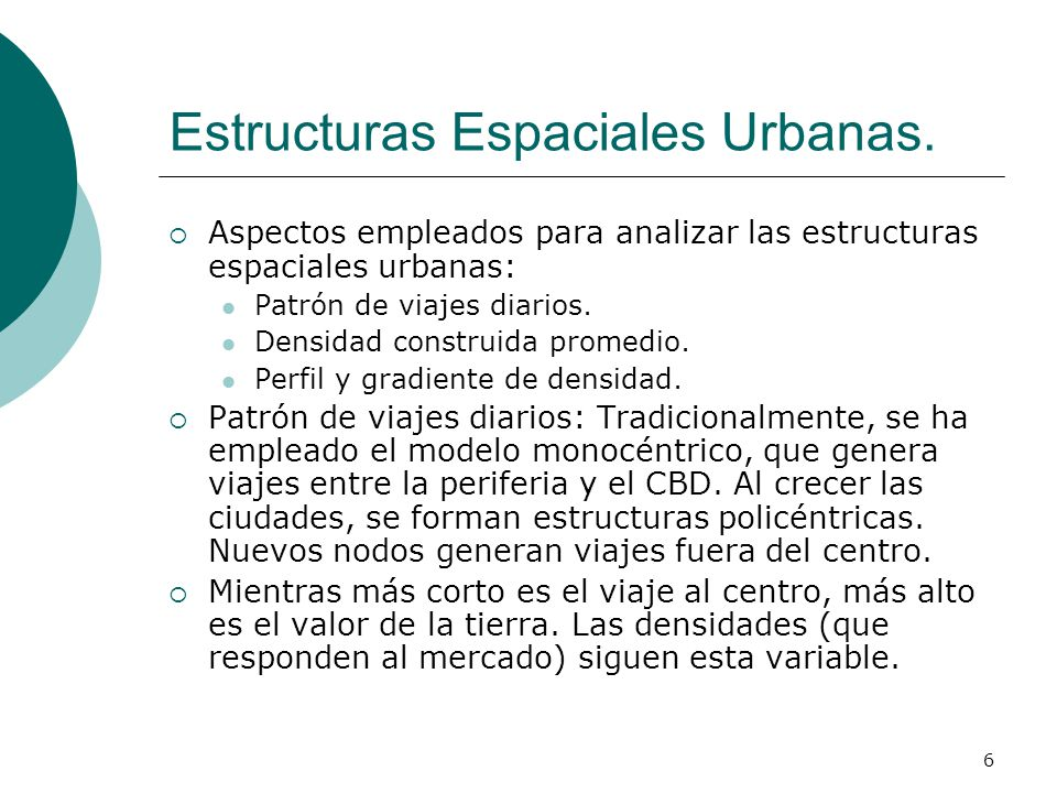 Estructuras Espaciales Urbanas.