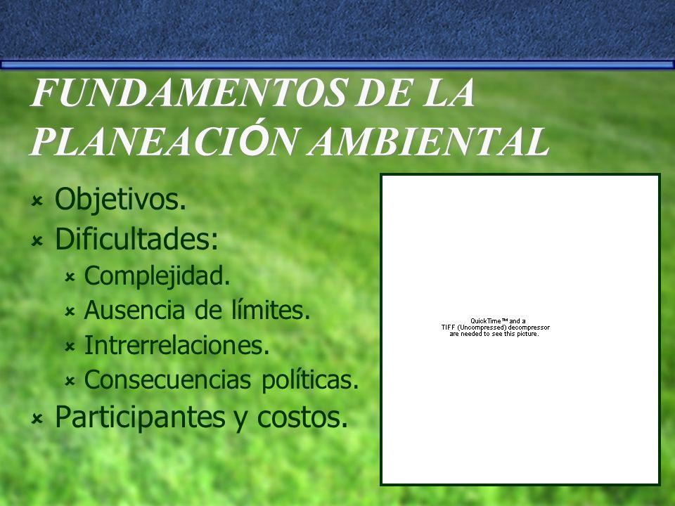 FUNDAMENTOS DE LA PLANEACIÓN AMBIENTAL