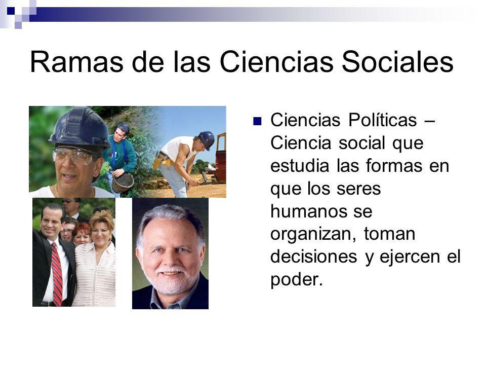 Ramas de las Ciencias Sociales