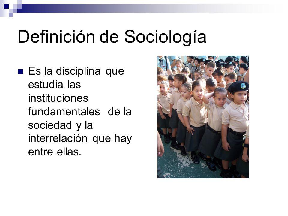 Definición de Sociología