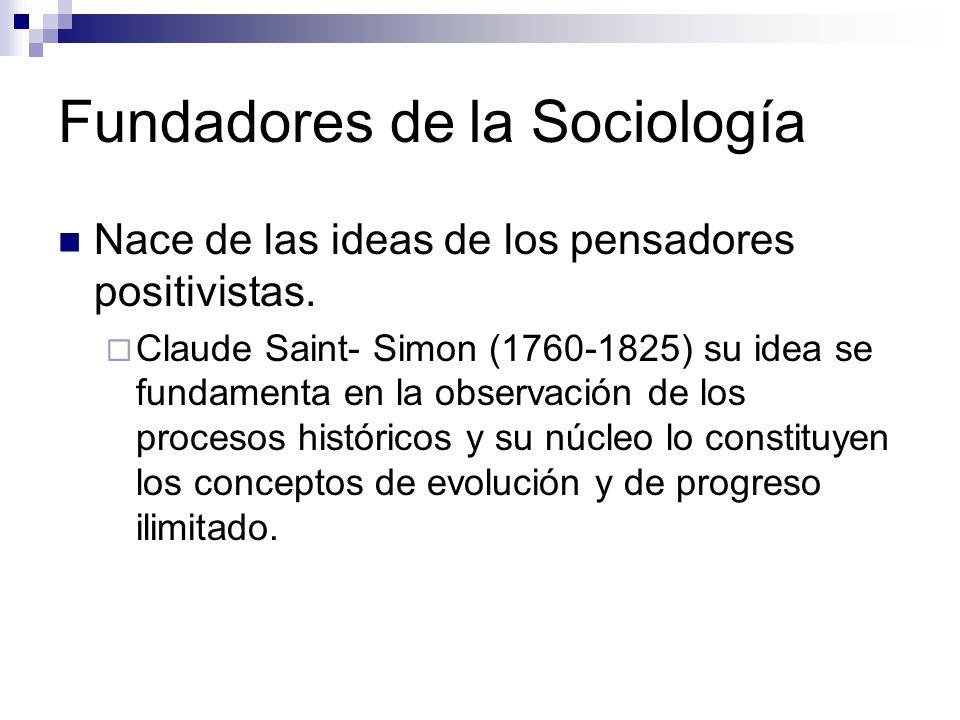 Fundadores de la Sociología