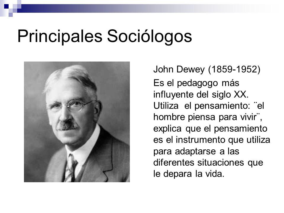 Principales Sociólogos