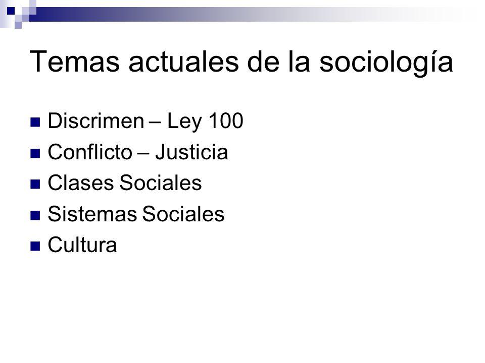 Temas actuales de la sociología