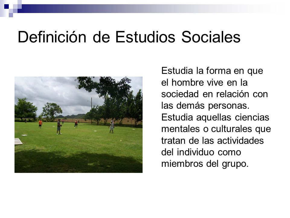 Definición de Estudios Sociales