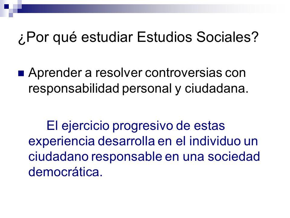 ¿Por qué estudiar Estudios Sociales