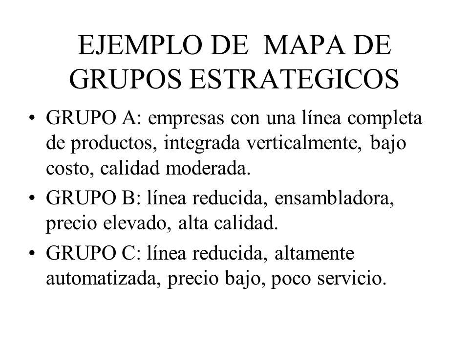 EJEMPLO DE MAPA DE GRUPOS ESTRATEGICOS