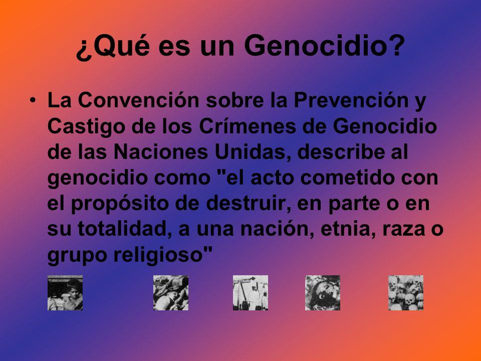¿Qué es un Genocidio