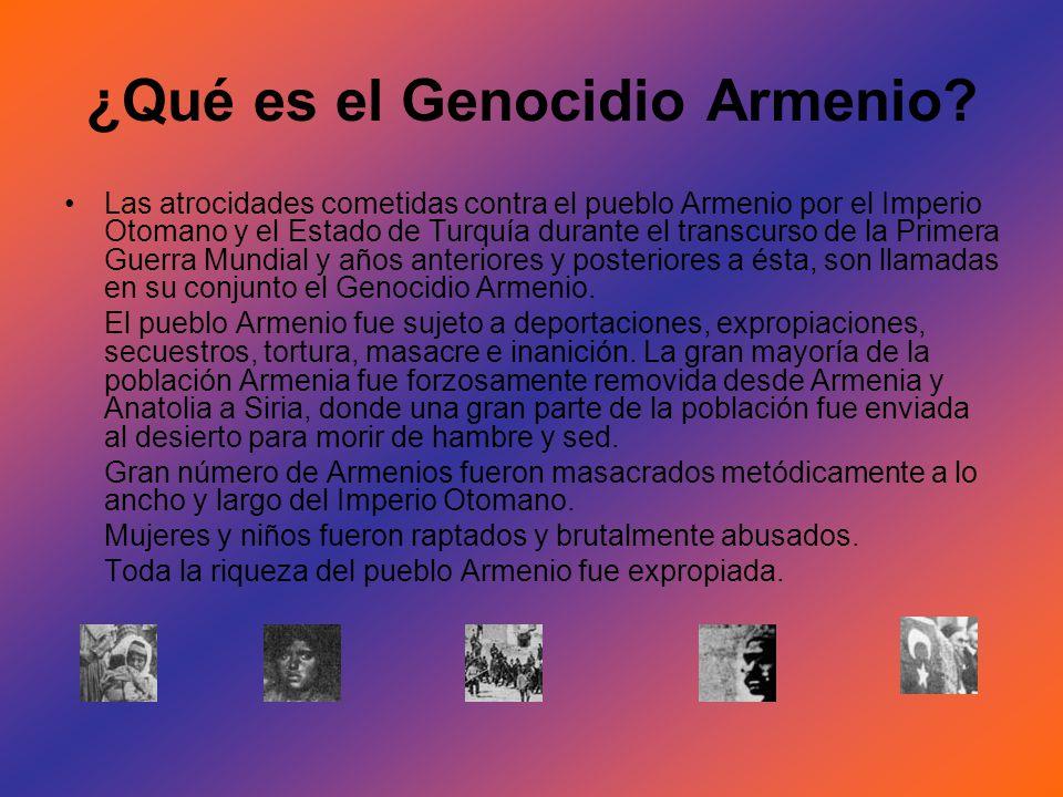 ¿Qué es el Genocidio Armenio