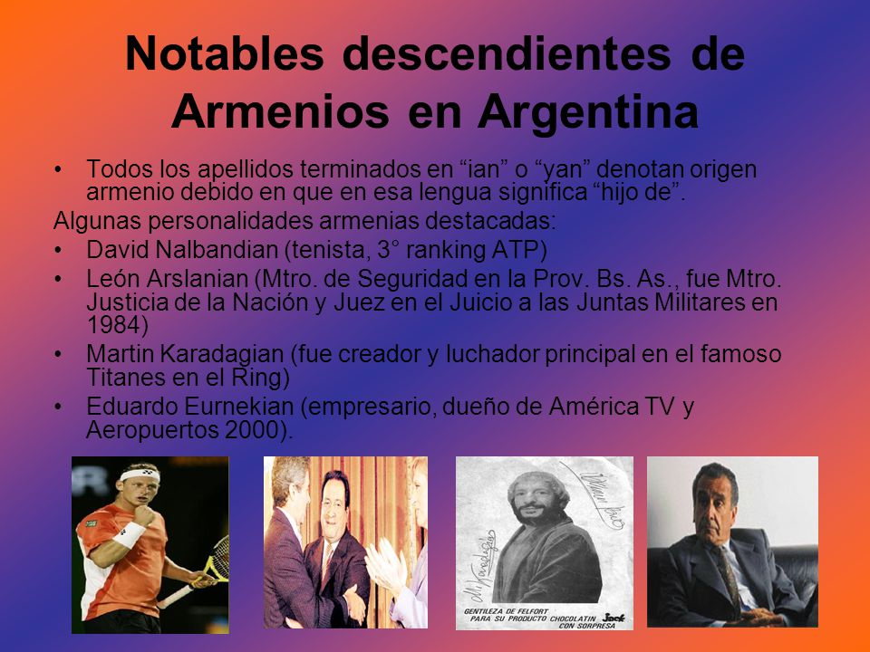 Notables descendientes de Armenios en Argentina