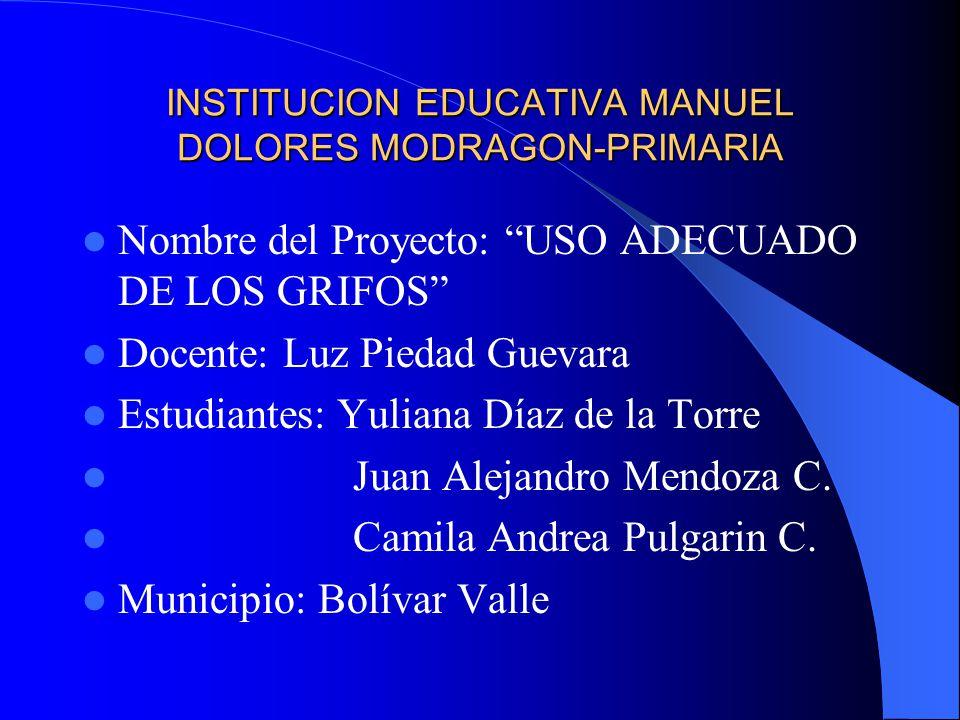 INSTITUCION EDUCATIVA MANUEL DOLORES MODRAGON-PRIMARIA
