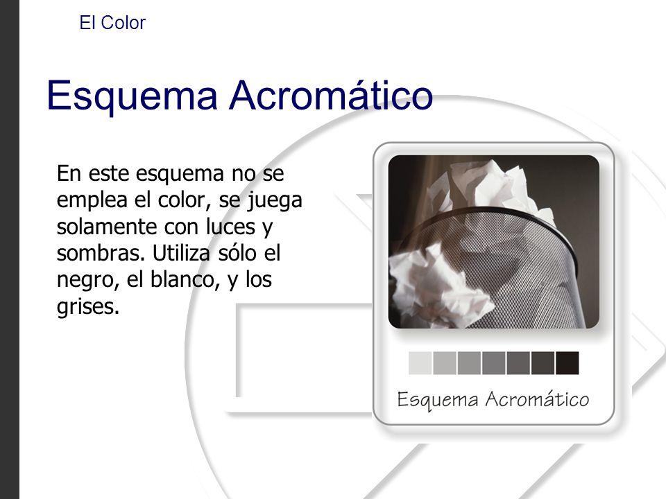 El Color Esquema Acromático.