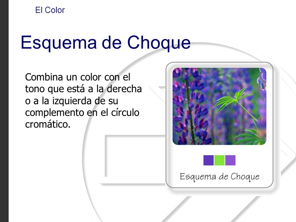 El Color Esquema de Choque.