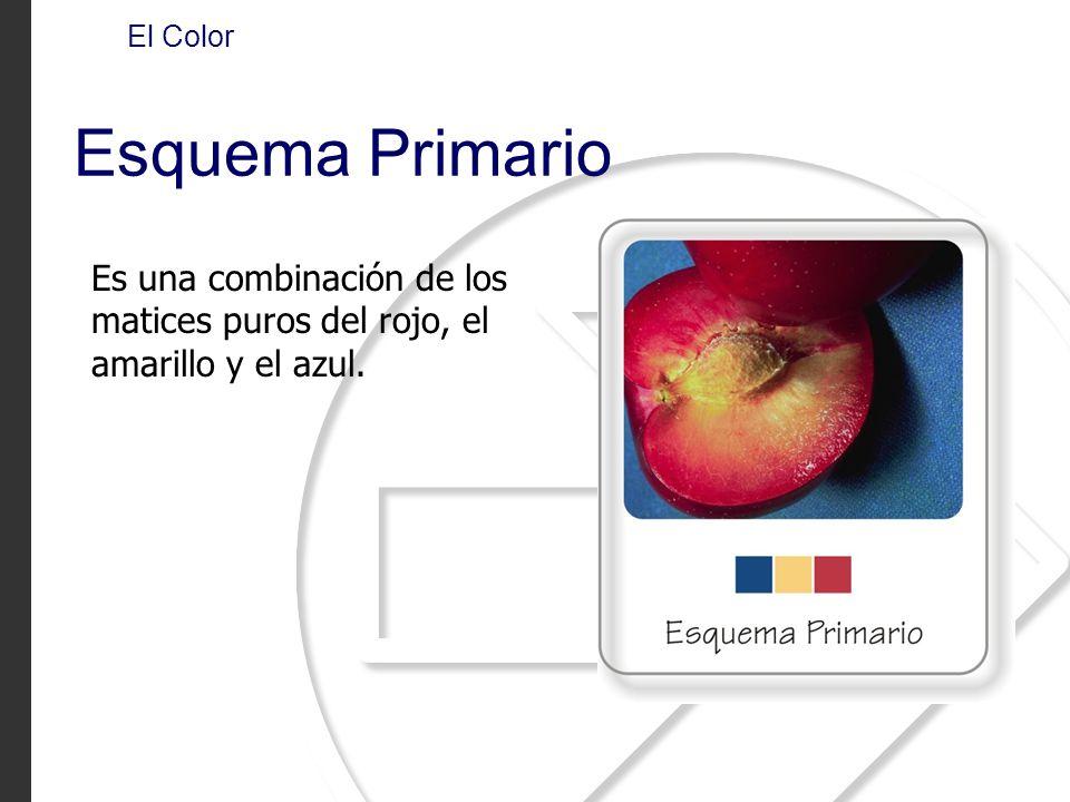El Color Esquema Primario Es una combinación de los matices puros del rojo, el amarillo y el azul.