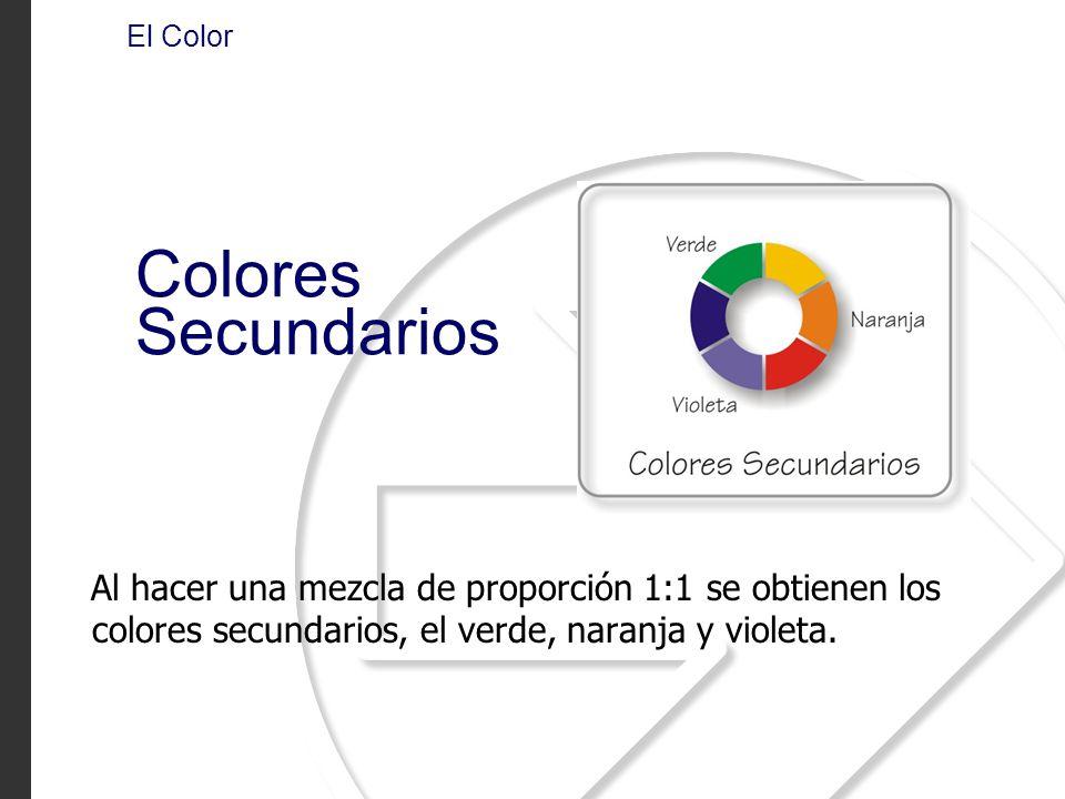 El Color Colores Secundarios.