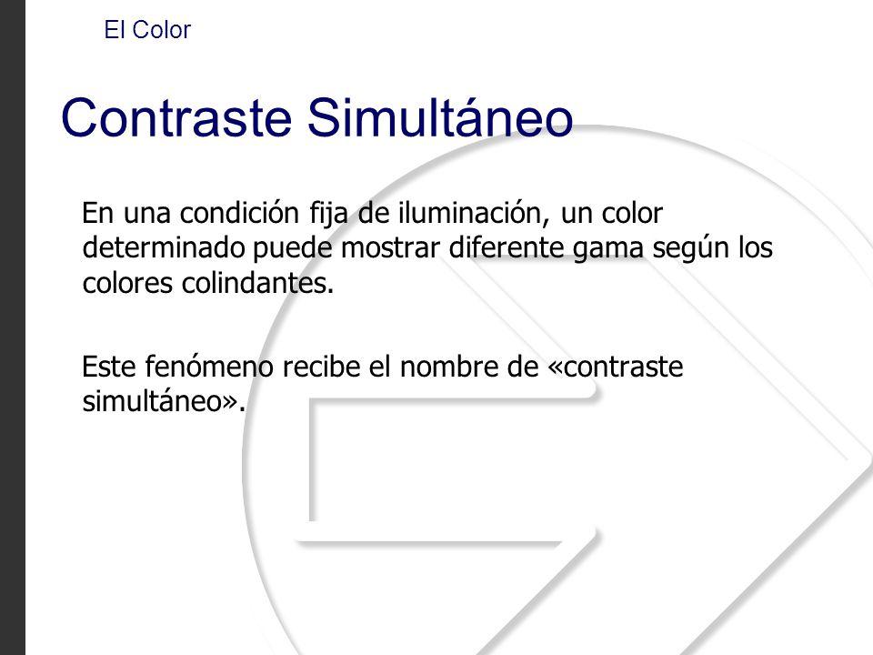 El Color Contraste Simultáneo.