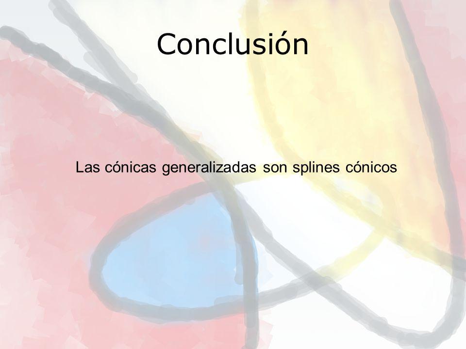 Conclusión Las cónicas generalizadas son splines cónicos 12