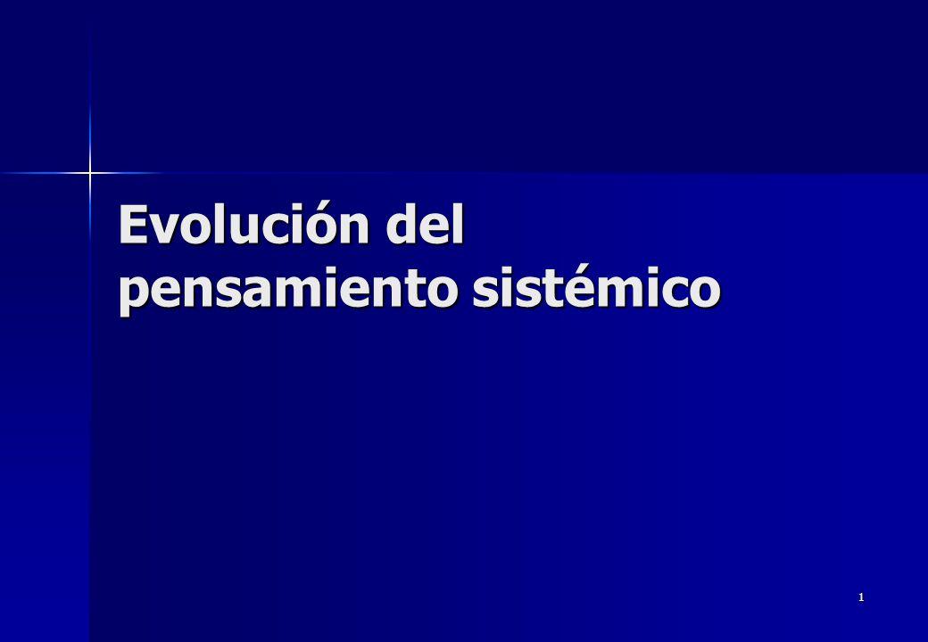 Evolución del pensamiento sistémico