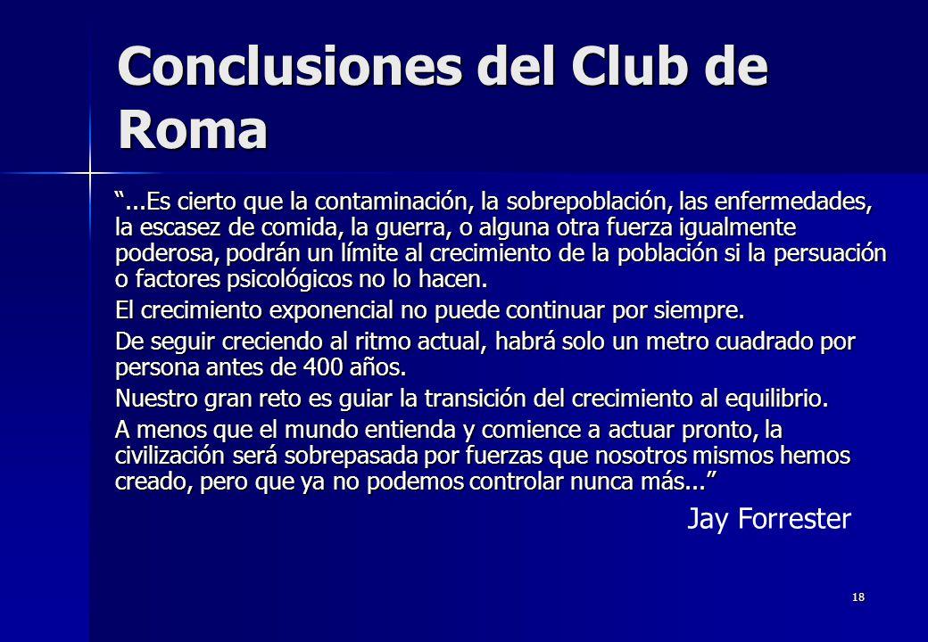 Conclusiones del Club de Roma
