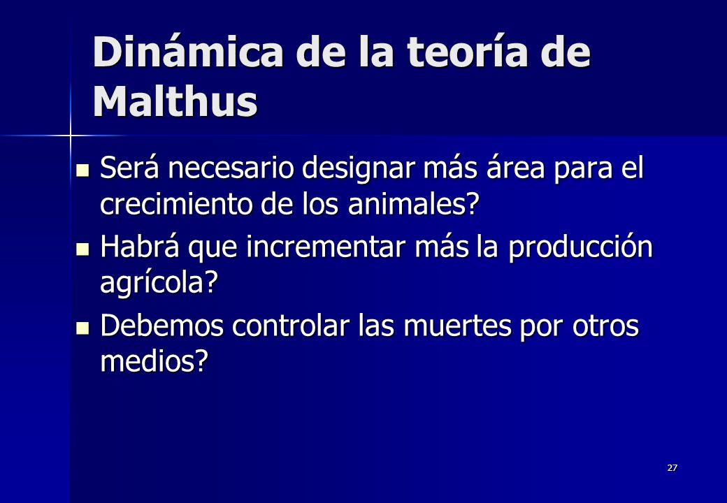 Dinámica de la teoría de Malthus