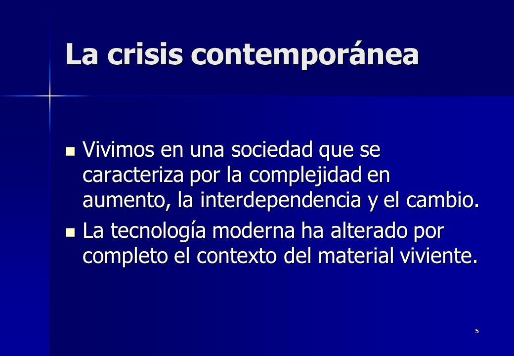 La crisis contemporánea