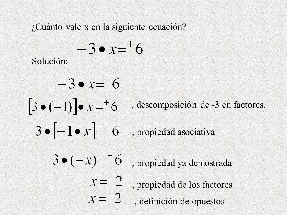 ¿Cuánto vale x en la siguiente ecuación