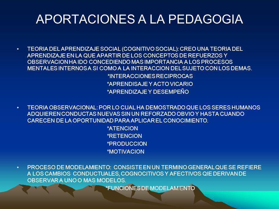 APORTACIONES A LA PEDAGOGIA