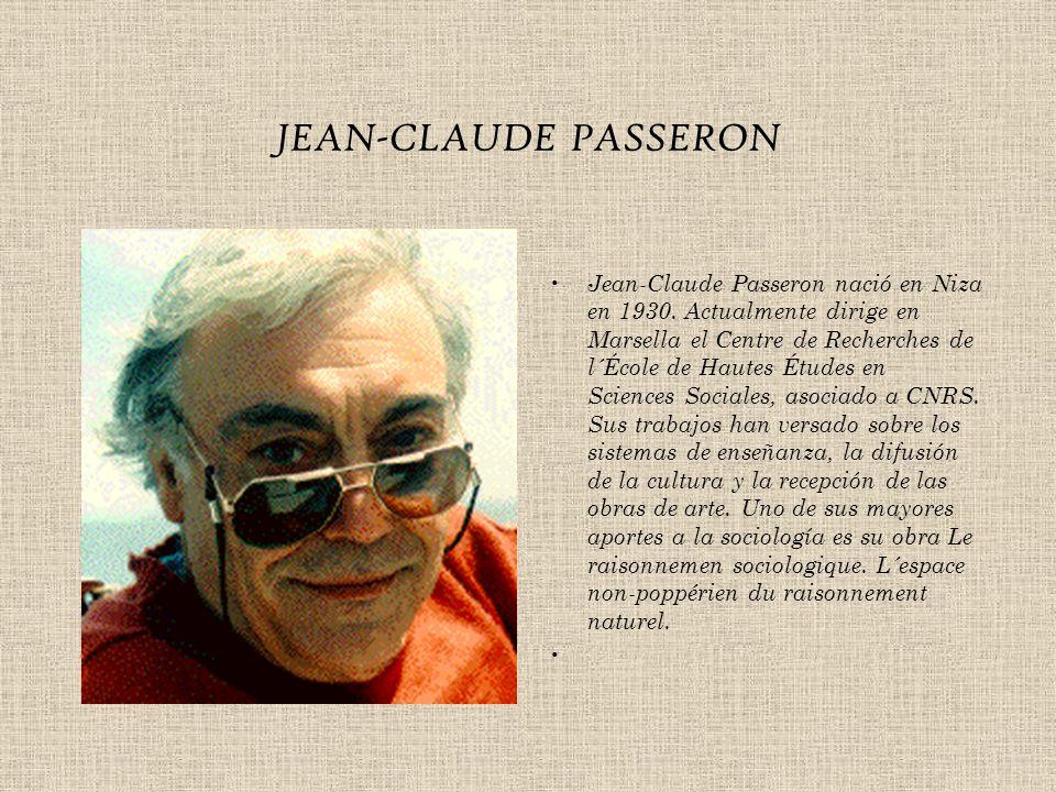 JEAN-CLAUDE PASSERON