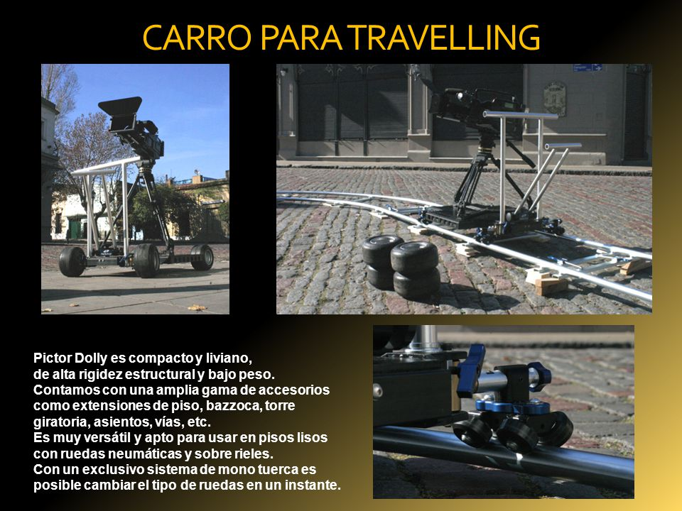 CARRO PARA TRAVELLING Pictor Dolly es compacto y liviano,