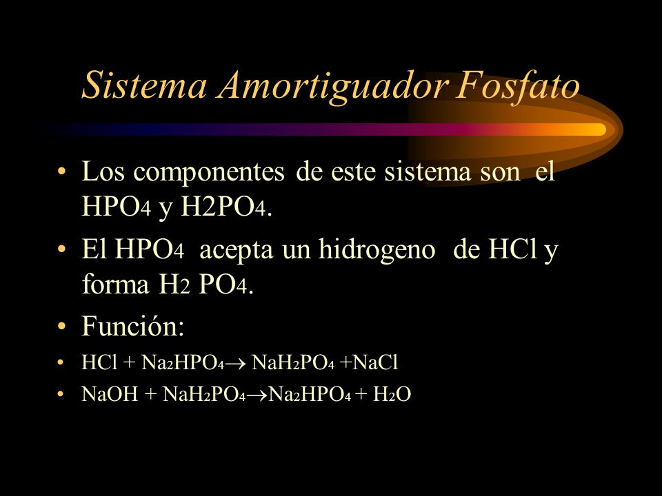 Sistema Amortiguador Fosfato