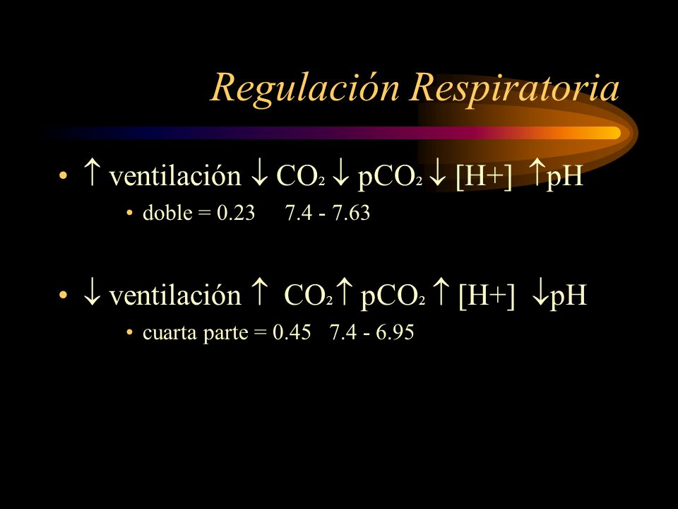 Regulación Respiratoria