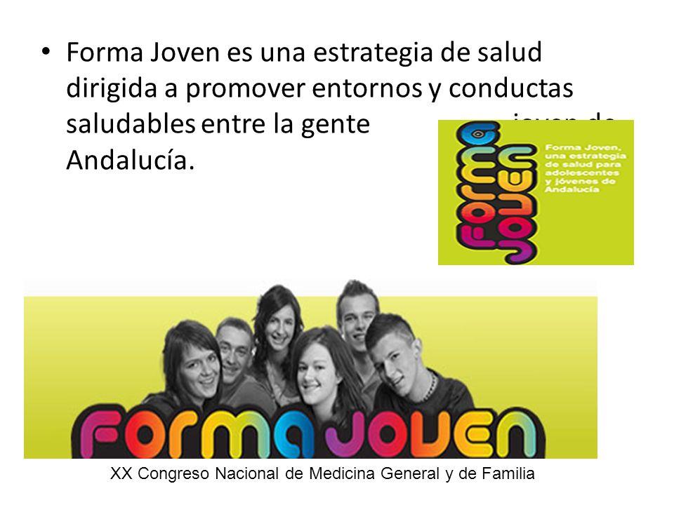 Forma Joven es una estrategia de salud dirigida a promover entornos y conductas saludables entre la gente joven de Andalucía.