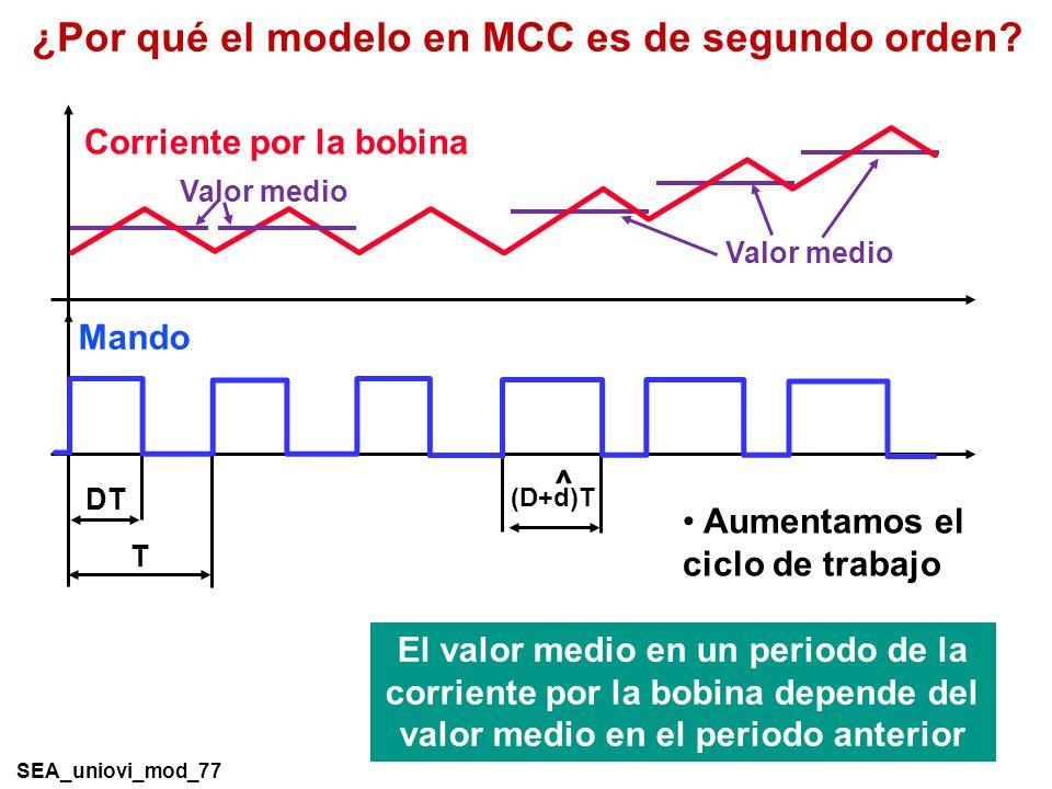 ¿Por qué el modelo en MCC es de segundo orden