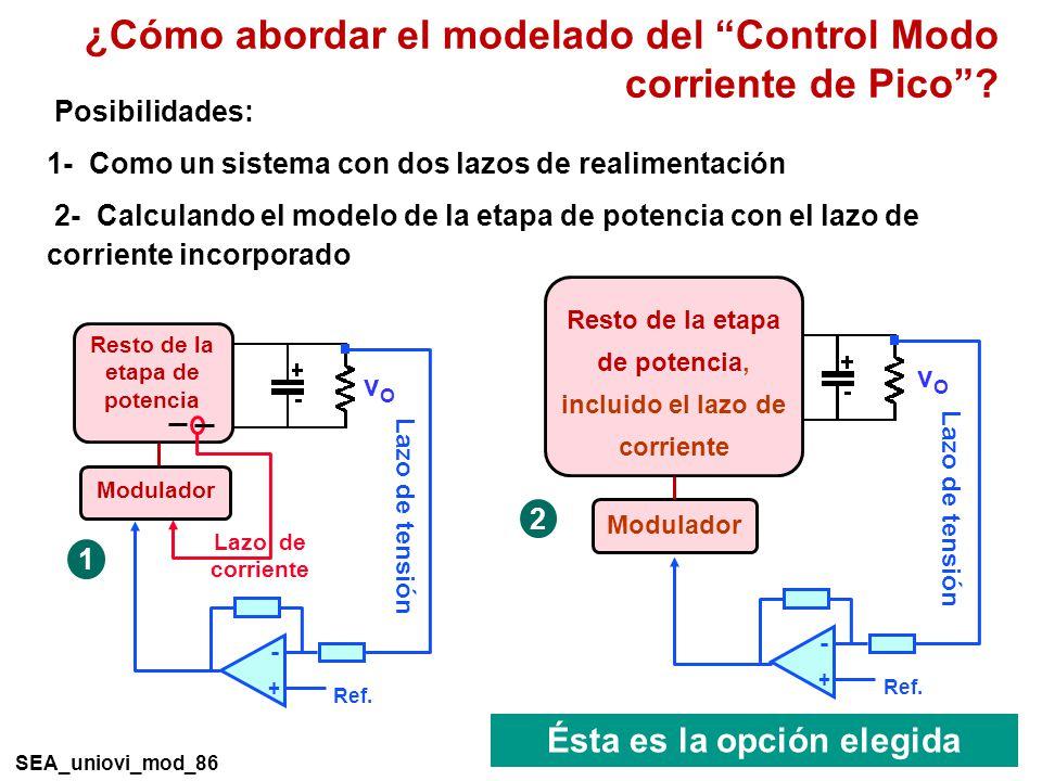 ¿Cómo abordar el modelado del Control Modo corriente de Pico