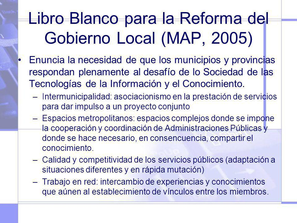 Libro Blanco para la Reforma del Gobierno Local (MAP, 2005)