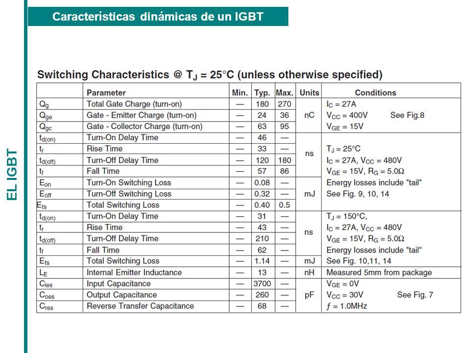 Características dinámicas de un IGBT