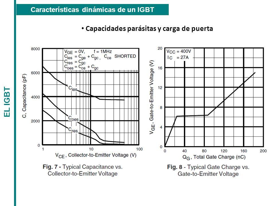 Capacidades parásitas y carga de puerta