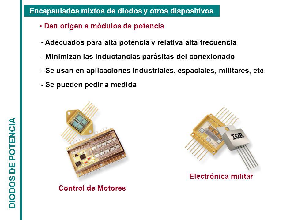 DIODOS DE POTENCIA Encapsulados mixtos de diodos y otros dispositivos