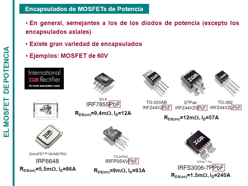 Encapsulados de MOSFETs de Potencia