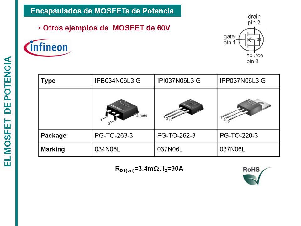 Encapsulados de MOSFETs de Potencia Otros ejemplos de MOSFET de 60V
