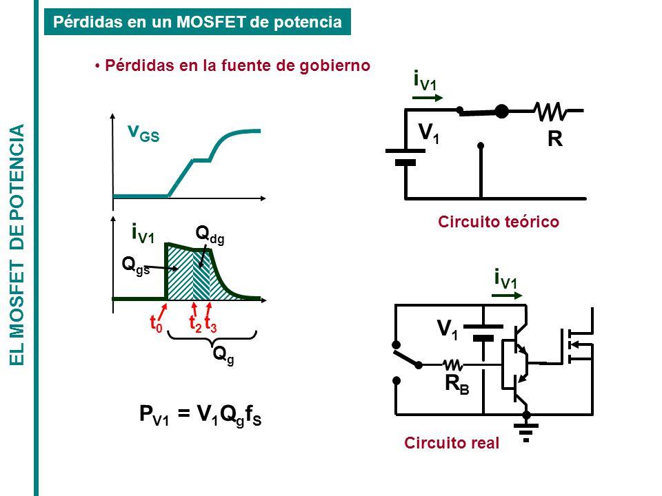 Pérdidas en un MOSFET de potencia Pérdidas en la fuente de gobierno