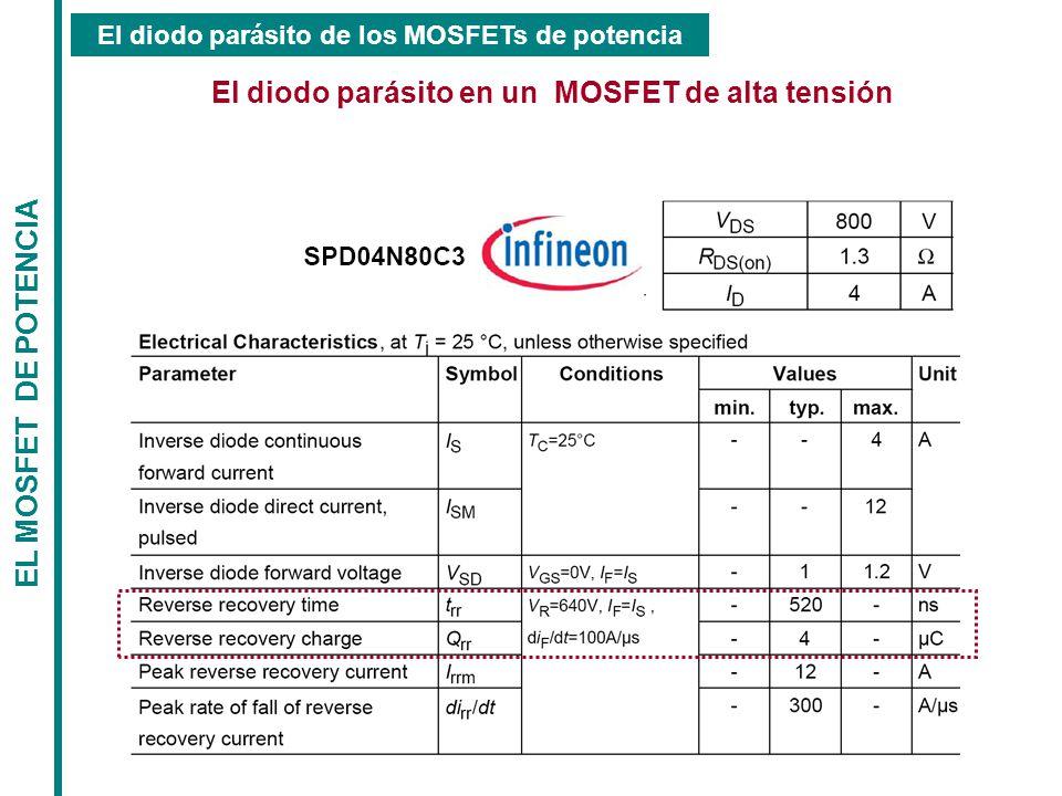 El diodo parásito en un MOSFET de alta tensión EL MOSFET DE POTENCIA