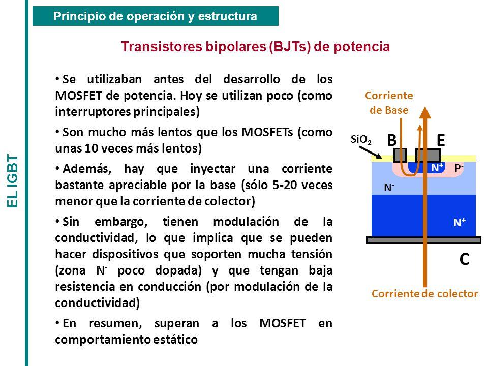 B E C Transistores bipolares (BJTs) de potencia