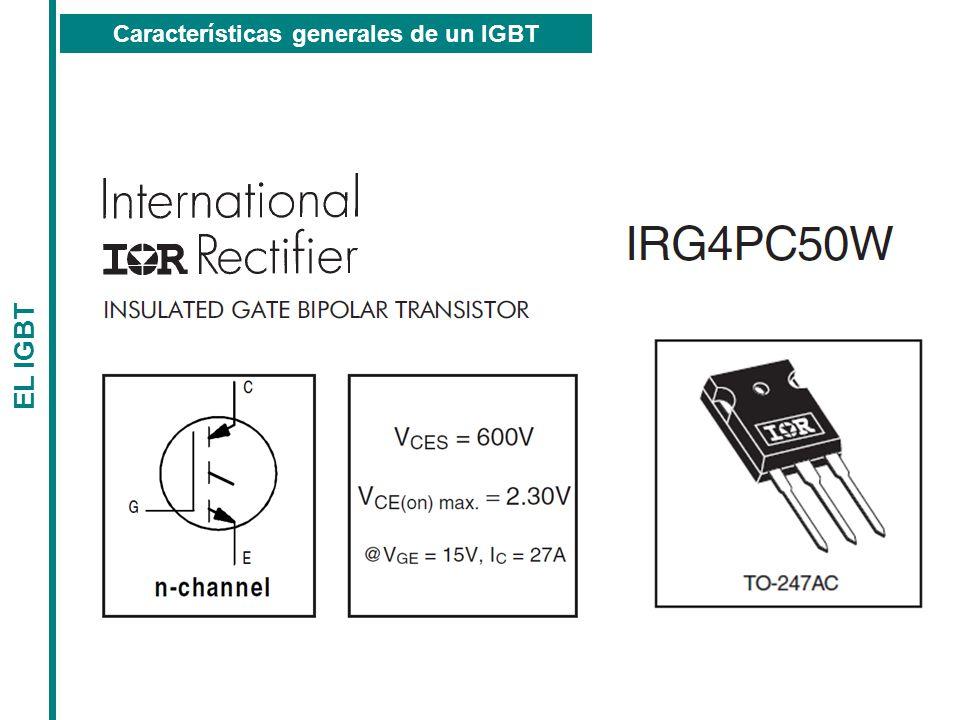 Características generales de un IGBT