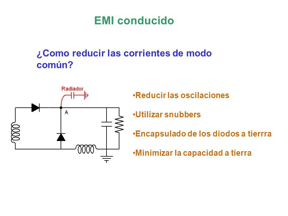 EMI conducido ¿Como reducir las corrientes de modo común