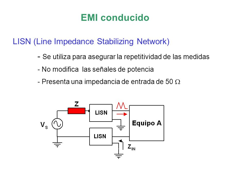 EMI conducido LISN (Line Impedance Stabilizing Network)