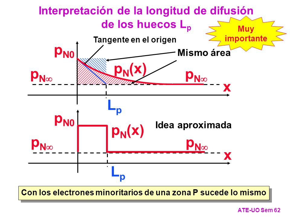 Interpretación de la longitud de difusión de los huecos Lp