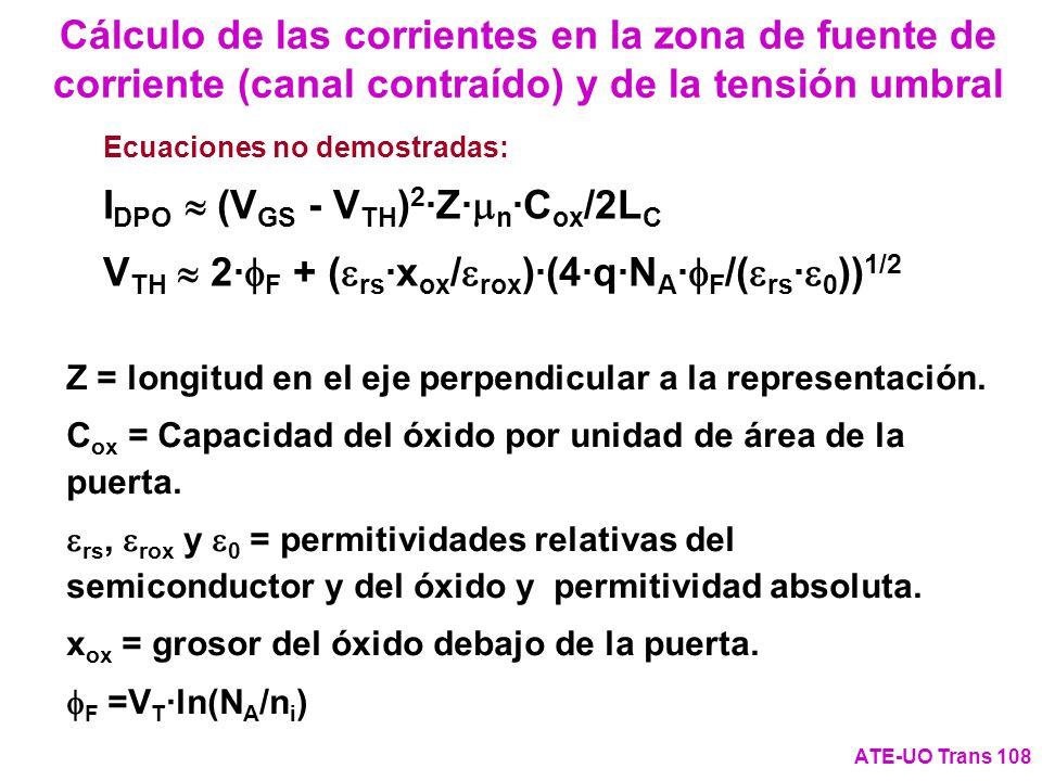 IDPO » (VGS - VTH)2·Z·mn·Cox/2LC