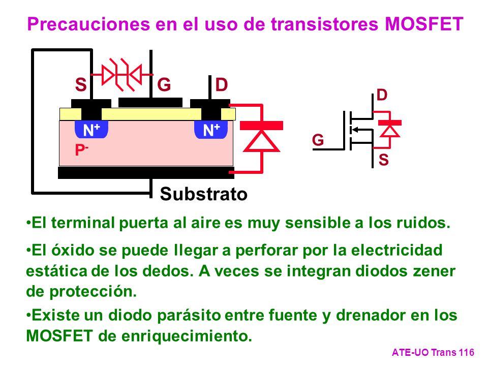 Precauciones en el uso de transistores MOSFET