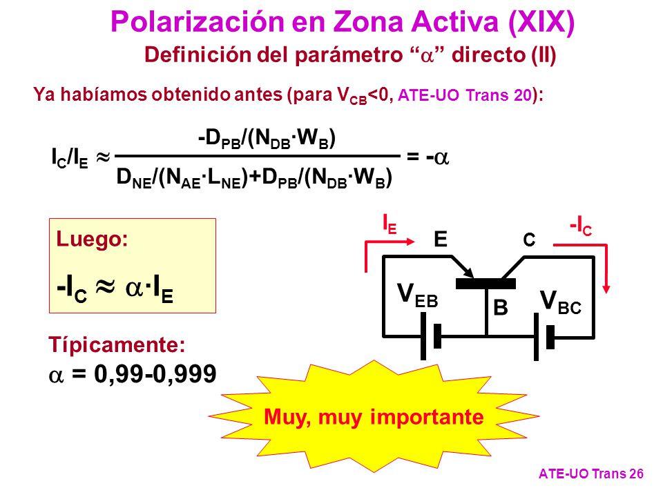 Polarización en Zona Activa (XIX)